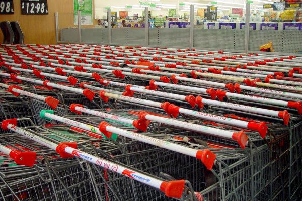 Virenschutzfolie Anwendung Einkaufswagen