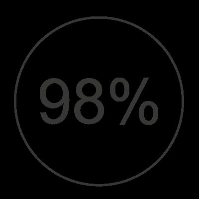 Icon 98% Virenreduktion